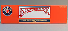 LIONEL CHRISTMAS ARCH RED UNDER BRIDGE FASTRACK pier train o gauge 6-82747 NEW