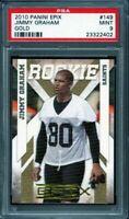 2010 panini epix gold #149 JIMMY GRAHAM new orleans saints rookie card PSA 9