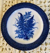Blue & White Porcelain Plate Signed Antique