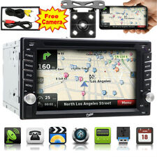 Rear View Camera Double 2 Din GPS DVD Pleyer Bluetooth Car Stereo 6.2