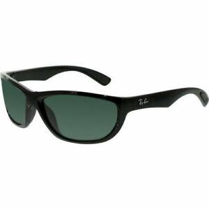 Ray Ban RB4188 601/71 63 Active Sport Sunglasses Black Gloss Frame Green Lens