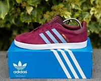 adidas 350 trainers claret and blue