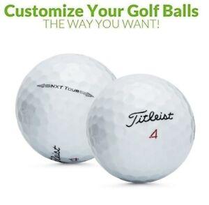 Personalized 1 Dozen Custom Logo Titleist NXT Tour Golf Balls + Free Tees