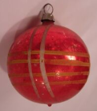 ANTIQUE FEATHER TREE MERCURY GLASS OLD CHRISTMAS ORNAMENT