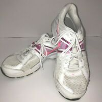 Womens Nike Dart 10 Size 9.5 Reslon Motion Fit Running Shoes White Pink 41 EUR