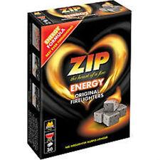 2 x 30 Pack ZIP ORIGINALE firelighters 60 cubi potente lungo bruciare le prestazioni