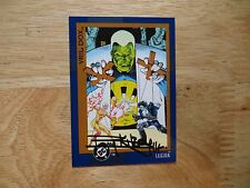 1993 DC COSMIC II VRIL DOX LEGION CARD SIGNED BARRY KITSON ART, WITH POA