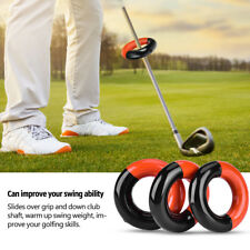 3Pcs Golf Club Warm Up Swing Round Weight Ring Diver Weighted Golf Training DY