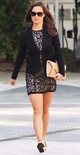 VERY RARE H&M H M black schwarz nude apricot lace dress Spitzen Kleid