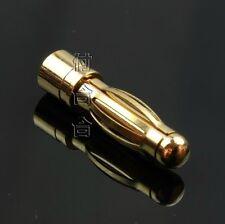 Lot20 Gold Tone 2mm Inner Diameter Male Banana Plug Bullet Connector