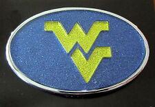 West Virginia University WVU GLITTER METAL AUTO EMBLEM Mountaineers car decal