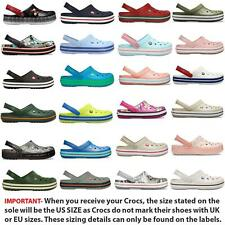 Crocs Crocband Relaxed Fit Clogs Shoes Sandals in Wide Range of Colours & Sizes