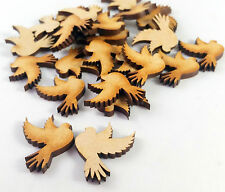 Wooden MDF Bird Shapes,Birds for Family Tree Embellishments-2.5cmx2cm pack of 25