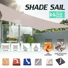 Sun Shade Sail Outdoor Top Canopy Patio UV Block 300D Waterproof Cover Shelter