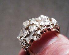 Vintage MidCentury Modernist Sterling Silver Ring Size 9 - Estate Find - 7.4g