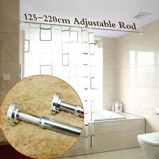 Extendable Bathroom Telescopic Shower Curtain Rail Pole Rod 2 Year Warranty Silv