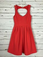 Boutique Ya Los Angeles Summer Coral Sleeveless Back Dress Women's Size S Small