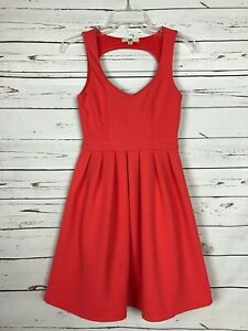 Ya Los Angeles Boutique Women's Size S Small Coral Sleeveless Cute Party Dress