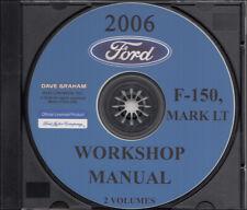 2006 Ford F150 Mark LT Shop Manual CD Pickup Truck Service Workshop Repair F-150
