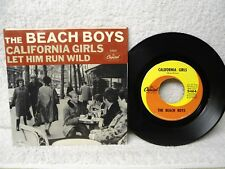 The Beach Boys 45 PS California Girls / Let Him Run Wild 1965 NM PS Orig!