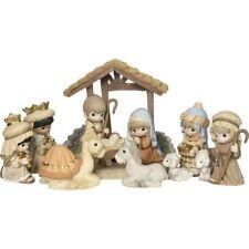 Precious Moments Deluxe 11 piece Nativity Set 181034 O Come Let Us Adore Him*NIB