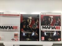 Mafia III 3 Deluxe Edition PC game box and COVER ONLY No game NEW original UK
