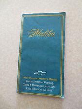 1979 Chevrolet Malibu Owner's Manual