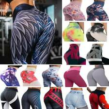 Womens Yoga Pants Printed  Leggings Stretch Butt Lift Workout Fitness Trouser