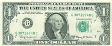 1963 series A G/G (CHICAGO) $1 Federal Reserve Note One Dollar Bill