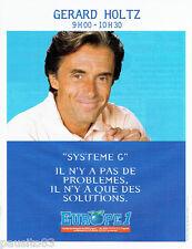 PUBLICITE ADVERTISING 096  1995   Radio Europe 1  Gérard Holtz