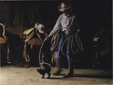 """*Postcard-""""The Cowboy Playfully Lassoes/Plays with Kitten""""  (B359)"""