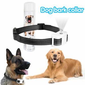Rechargeable Anti Bark Collar Stop Dog Barking Mist Spray Controller Adjustable