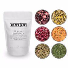 PREMIUM ORGANIC TEA HERBAL - Dried Petals Herb Drinking Soap Bath Bomb Confetti