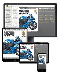 Suzuki GSX-R600 & 750 (2006-2016) Haynes Online Manual