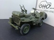 RARE Jeep willys military grille Solido 1/18 avec mitraillette made in 🇫🇷