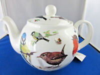 GARDEN BIRDS from Roy Kirkham. made in England 6 CUP TEA POT.Fine Bone China