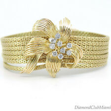 Vintage Diamond 18kt yellow  Gold Bracelet 61.0 Grams