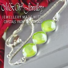 925 Silver Bracelet Crystals From Swarovski® SQUARE FANCY STONE Lime 10mm