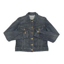 Vintage LEE Denim Jacket | Medium | Retro Biker Button Jean Bomber Trucker