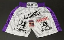 JULIO CESAR CHAVEZ Signed Autographed ATLANTICO, TECATE Custom Trunks L. WITNESS