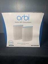 NETGEAR - Orbi AC3000 Tri-Band Mesh Wi-Fi System (2-pack) - White Brand New!