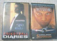 Set of 2 LEONARDO DICAPRIO DVD'S  BASKETBALL DIARIES  / AVIATOR