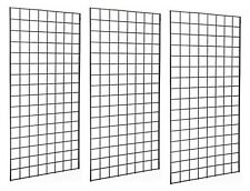 2' x 6' Deluxe Black Wire Gridwall Retail Display Panels Case of 3 FREE SHIPPING