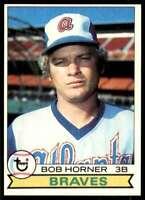 1979 Topps Nm-Mt Stock Image Bob Horner Atlanta Braves #586