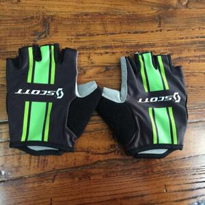 Team Bike Glove Men Cycling Gloves Half Finger Gel Pad Anti-slip Bicycle Glove #