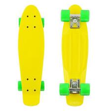 Retro Complete Skateboard Deck Mini Skate Board 22'' Cruiser Penny Style, Yellow