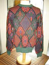 RENE LEZARD Pull 50/52 L Multicolore Soie Mohair Vintage Used d'occasion