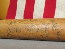 Vintage Adirondack Wood Baseball Bat White Ash Musial Type Personal Model 32""