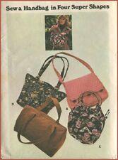 1970s Vintage Mod 4 Shapes Handbag Purse Bag Sewing Pattern Butterick 4520 Uncut