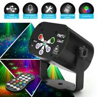 LED 128Pattern Laser Projector Lights RGB Stage Lighting Party KTV DJ Disco Club